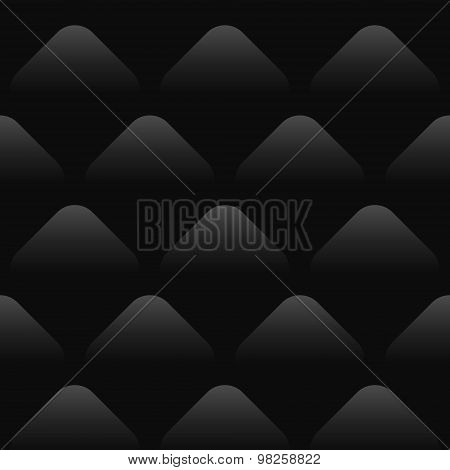 Black Wave Pattern Seamless Background
