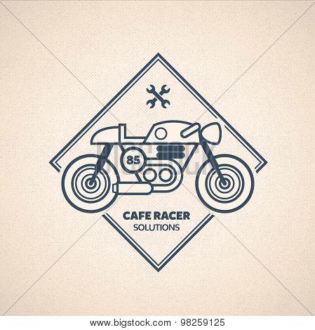 Vintage Motorbike Label