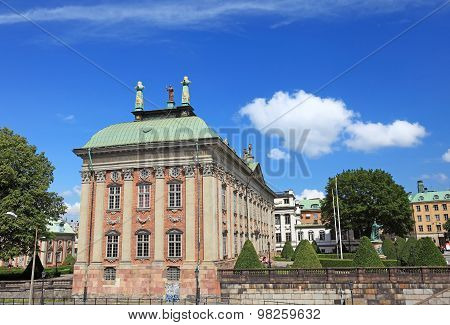 Riddarhuset Building In Stockholm, Sweden.