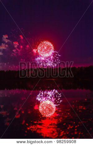 firework under river