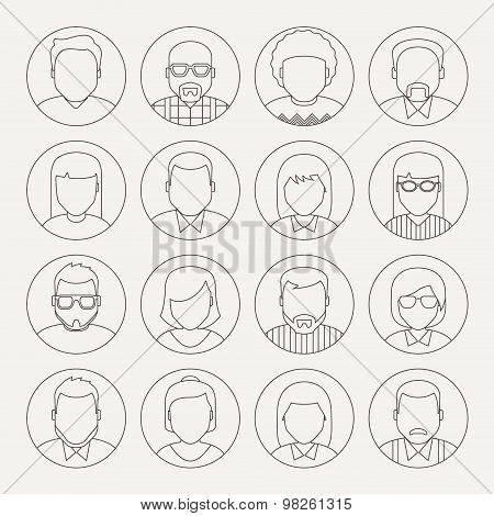 Vector Line Avatars