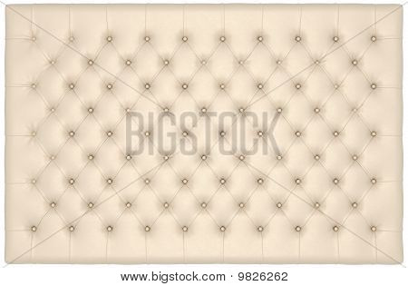 Beige Luxury Buttoned Leather Mattress