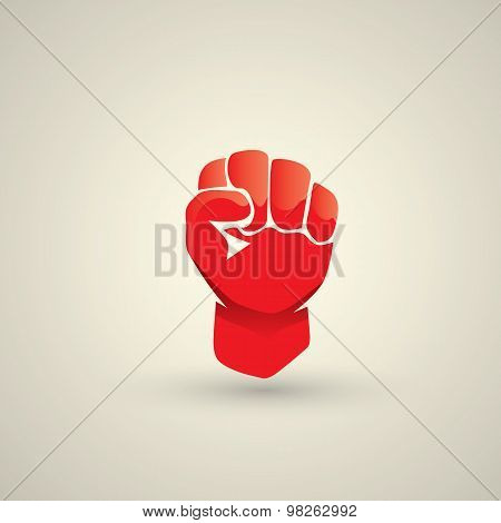 freedom concept. vector fist icon