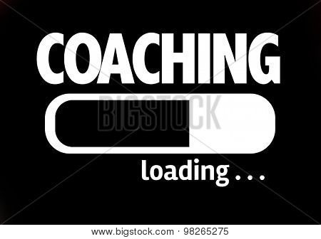 Progress Bar Loading with the text: Coaching