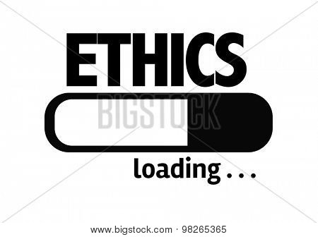 Progress Bar Loading with the text: Ethics