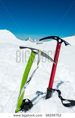 Pair of ice axes.