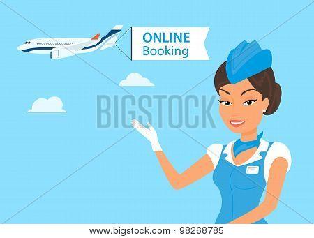 Female stewardess