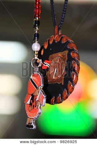 trinindadian rearview mirror ornaments