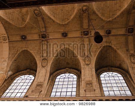 Church Gothic Ceiling In Paris France
