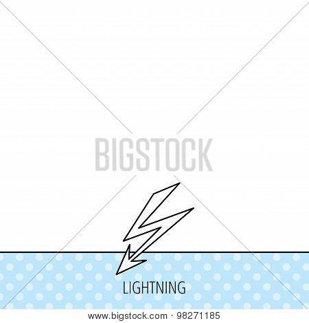 Lightening bolt icon. Power supply sign.