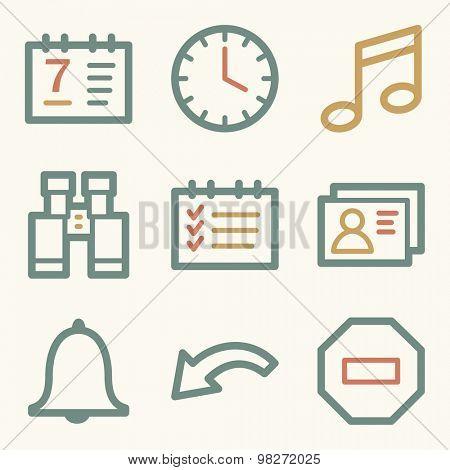 Organizer web icons