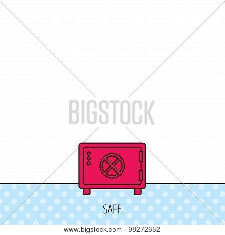 Safe icon. Money deposit sign.