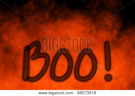 Abstract Halloween boo blurred background party invitation