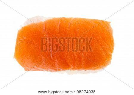 Isolated Salmon Nigiri Sushi Top