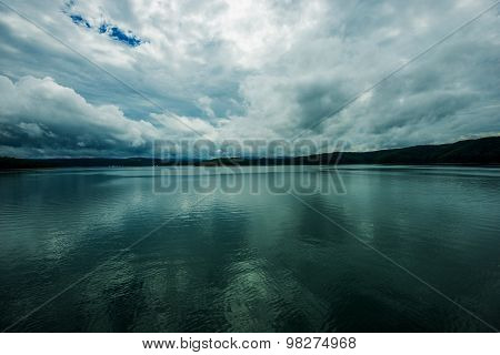 Stormy Lake Scenery