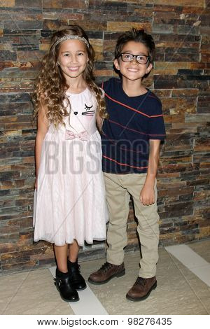 LOS ANGELES - AUG 8:  Brooklyn Rae Silzer, Nicolas Bechtel at the General Hospital Fan Club Luncheon Arrivals at the Embassy Suites Hotel on August 8, 2015 in Glendale, CA