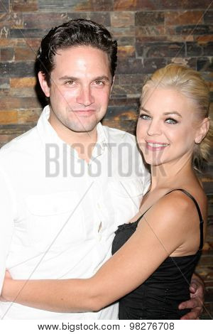 LOS ANGELES - AUG 8:  Brandon Barash, Kirsten Storms at the General Hospital Fan Club Luncheon Arrivals at the Embassy Suites Hotel on August 8, 2015 in Glendale, CA