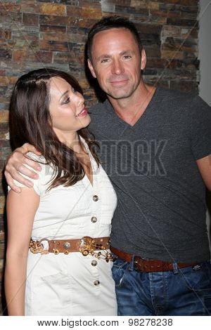 LOS ANGELES - AUG 8:  William deVry, Linda Elena Tovar at the General Hospital Fan Club Luncheon Arrivals at the Embassy Suites Hotel on August 8, 2015 in Glendale, CA