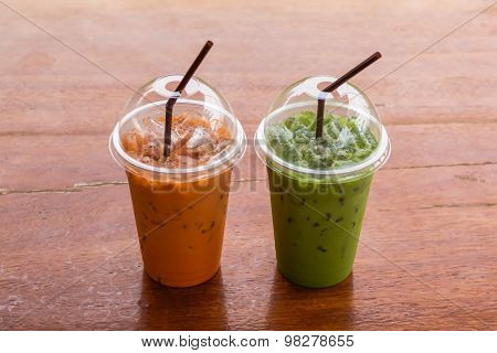 Iced Green Tea And Milk