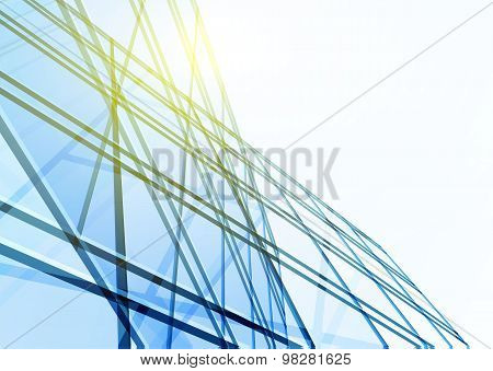 Abstract building from the lines.