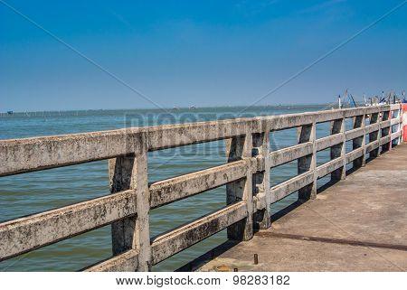 Concrete Bridge Railing.