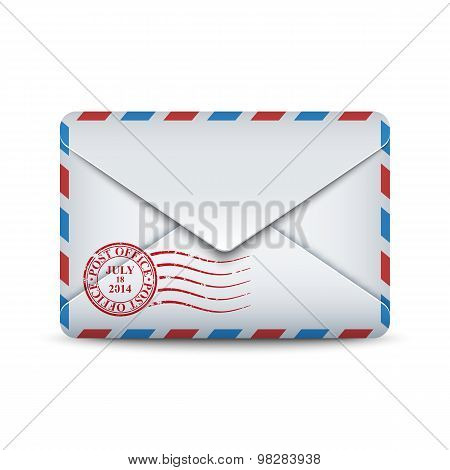 Sealed Envelope Icon, Stock Vector