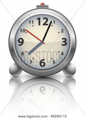 Old Time Analog Alarm Clock, Vector Illustration