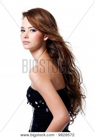 Beautiful Woman With Long Hairs