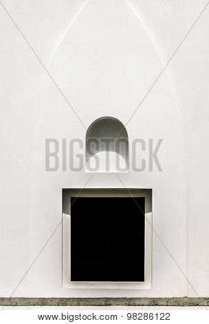 Abstract architrave window.