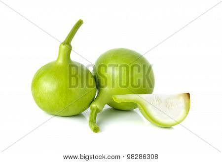 The Bottle Gourd, Calabash On White Background