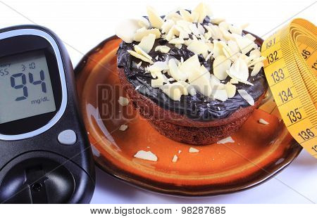 Glucometer, Chocolate Muffins And Tape Measure