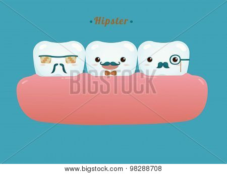 Hipster of dental gang