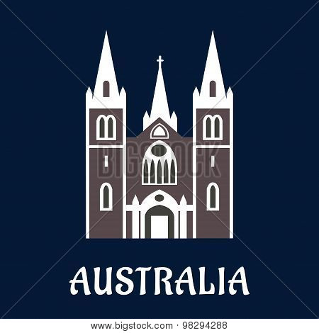 Australian cathedral church flat icon