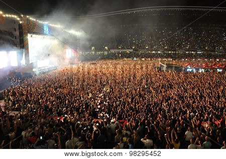 Party Crowd Dancing At Concert