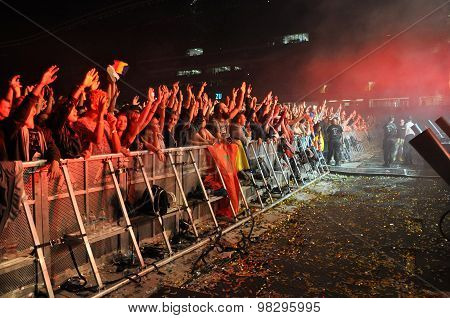 Party People In The Golden Circle At A Concert