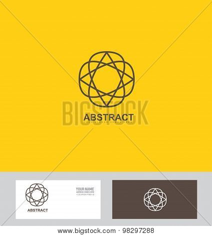 Abstract Flower Sign Symbol Logo