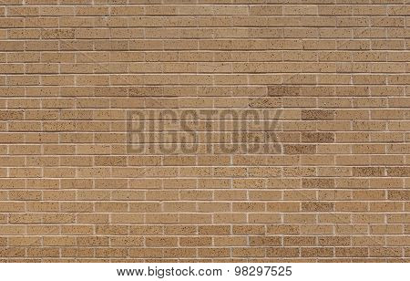 Pattern Of Light Brown Brick Wall, Use As Background.