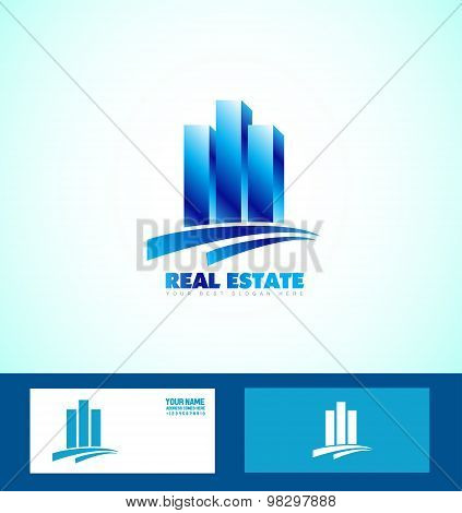 Blue Real Estate  Logo Icon