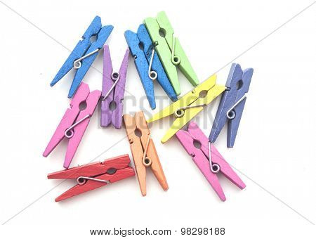 wood clothes pin colorful