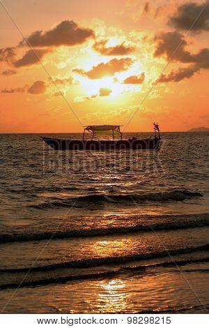 Sunset at Serendipity Beach, Sihanoukville