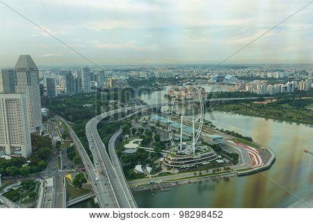 View Of Singapore City Skyline