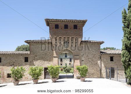 entrance to a hotel renaissance Italian, Tuscany,
