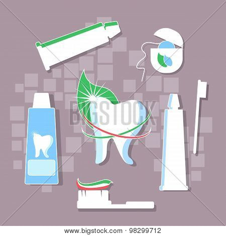 Brushing Teeth, Hygiene, Toothpaste, Dental Floss, Stomatology Medical Prophylaxis Prevention