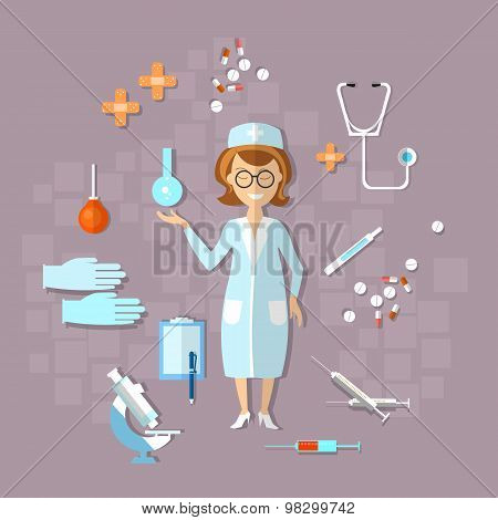 Medicine, Health, Doctor, Nurse, Clinic, Hospital, Thermometer, Pills, Stethoscope, Treatment