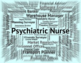 picture of matron  - Psychiatric Nurse Showing Nervous Breakdown And Hire - JPG