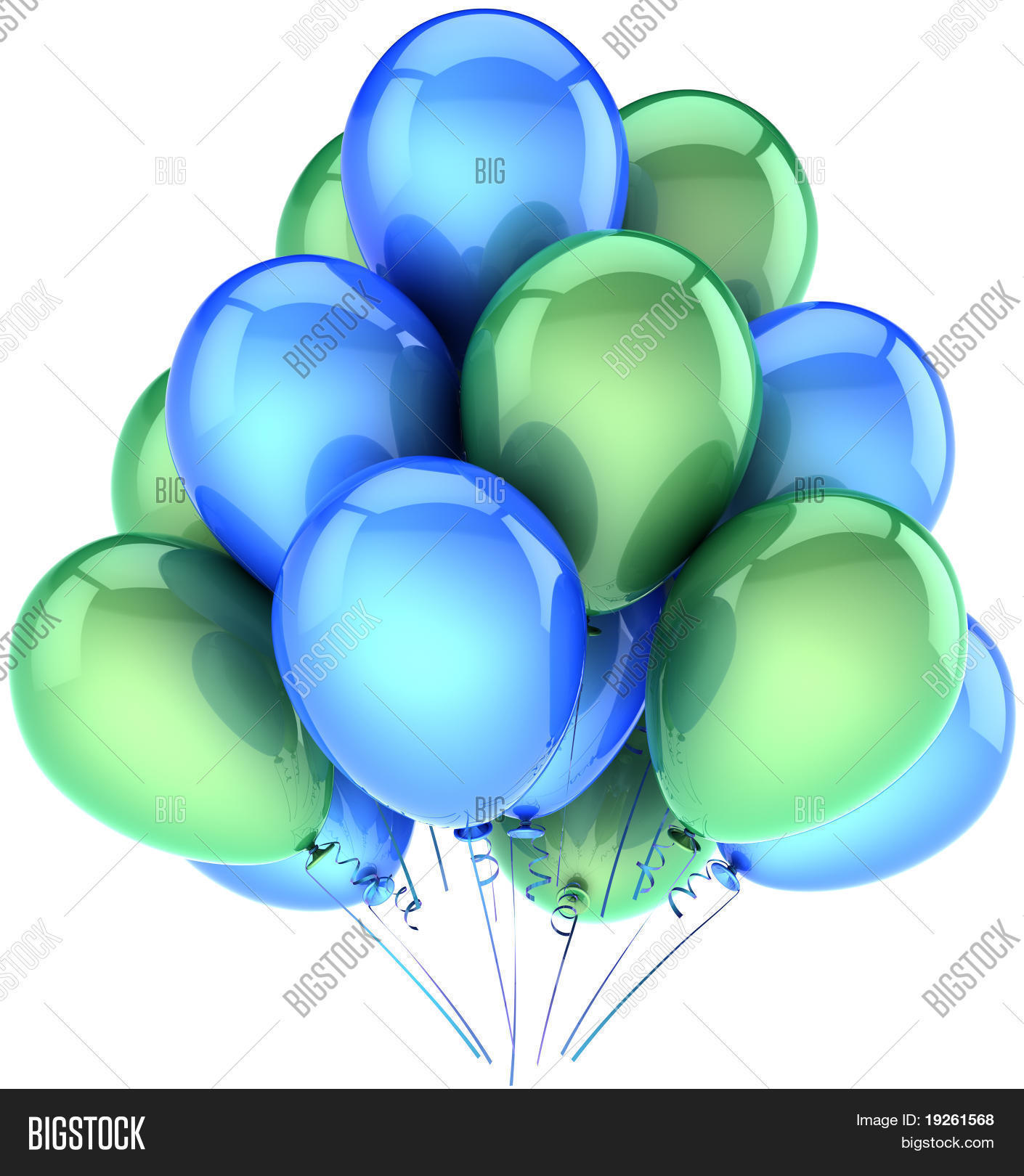 Green and blue balloons - Balloons Party Birthday Decoration Blue Green