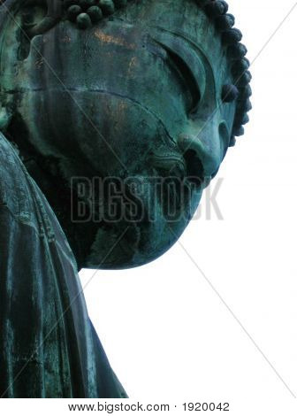 Buddah With White Background