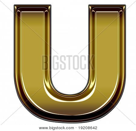 gold upper case U
