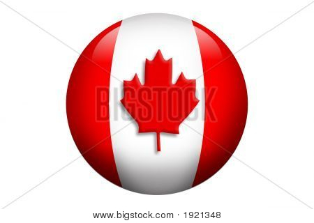 3D Canadian Flag Orb