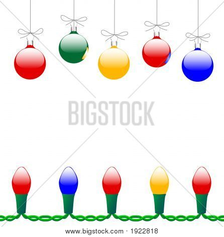 Merry Christmas Ornaments & Licht String